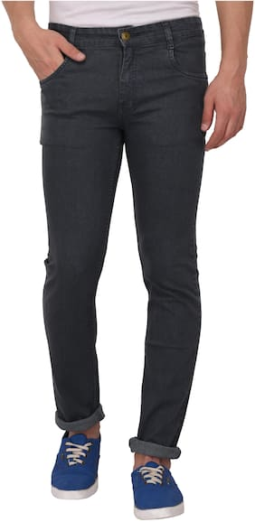 Studio Nexx Men's Regular Fit Stretch Jeans (Dark Grey)