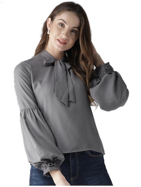 Style Quotient Women Solid Regular top - Grey