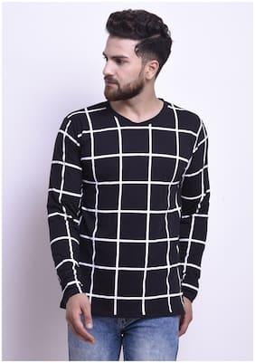 STYLESMYTH Men Regular fit Round neck Printed T-Shirt - Black