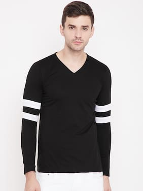 Men Round Neck Solid T-Shirt ,Pack Of Pack Of 2