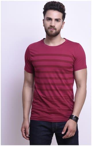 STYLESMYTH Men Maroon Regular fit Cotton Round neck T-Shirt - Pack Of 1
