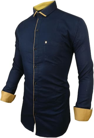 SUR-T Men Multi Solid Slim Fit Casual Shirt