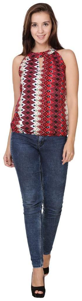 Sukuma Women Crepe Printed - Regular top Multi