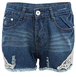 Pants High Straight Denim Women Lacework Waist Patchwork for Stylish Hot Sheath Hole TYz1znf