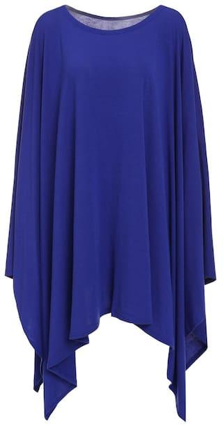 Stylish Scoop Neck Solid Color Asymmetrical Women\'s Dress