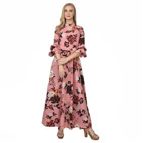 Styllry Pink Floral Maxi dress