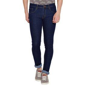 Stylox Men's Slim Fit Stretchable Dark Blue Jeans
