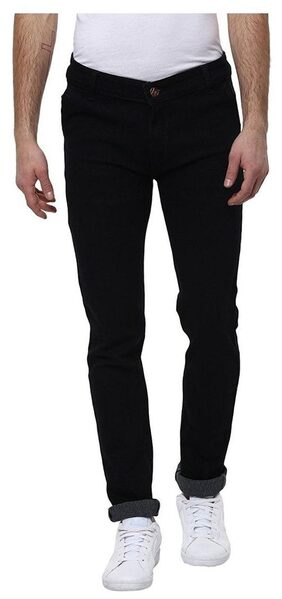 Stylox Men's Stretchable Slim Fit Black Jeans