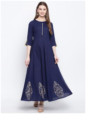 Women Ethnic Motifs Fit and Flare Kurta ,Pack Of 1