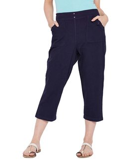 Sugar Blue Fashion Crop Pant