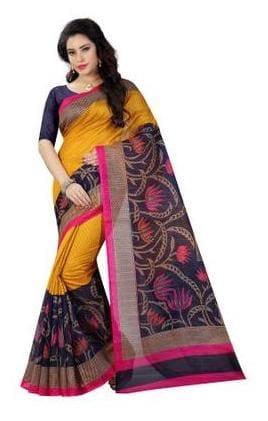 Sugathari Bhagalpuri Art Silk Printed Saree