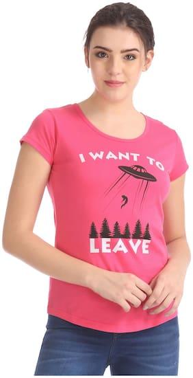 Women Half Sleeves T Shirt