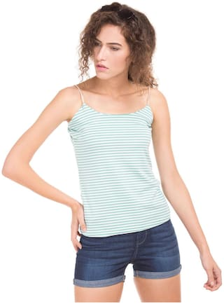 SUGR Women Striped Regular top - Blue