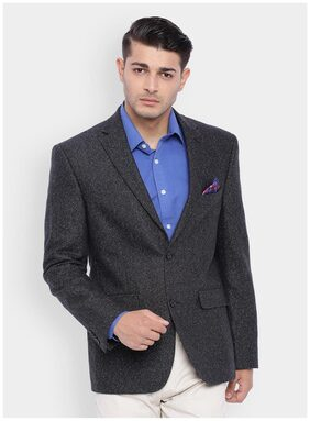 SUITLTD Men Polyester Regular Fit Blazer - Black