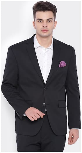 SUITLTD Black PV Plain Regular Fit Jacket