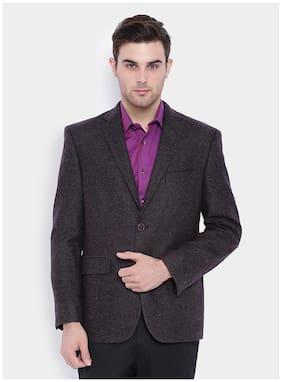 SUITLTD Men Polyester Regular fit Blazer - Blue