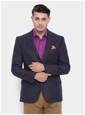 SUITLTD Men Polyester Slim fit Blazer - Grey