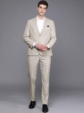 SUITLTD Wool Blend Checked Beige Color Blazer and Trouser For Men