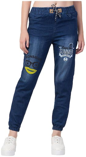 Generics Women Relaxed fit Low rise Printed Jeans - Blue