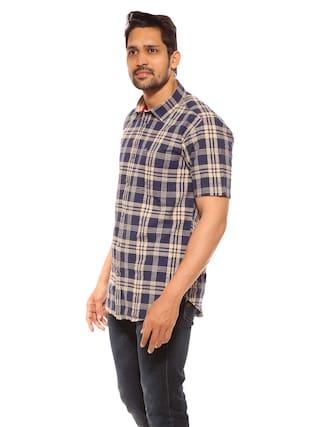 fafeda05a751 Buy SUMMER LINE Men Regular Fit Casual shirt - Blue Online at Low ...