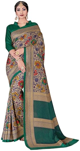 Sunaina Green Universal Designer Saree , With blouse