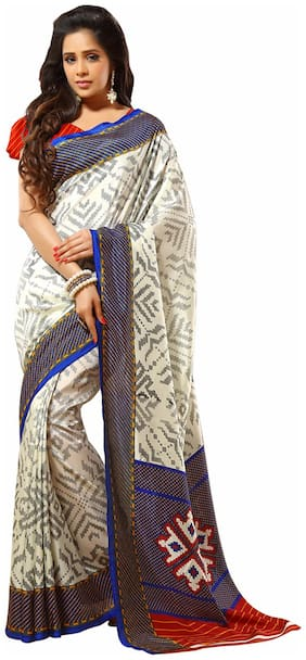 Sunaina Multi Color Silk Blend Saree
