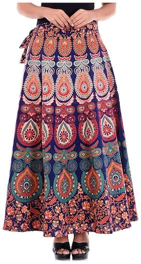 Sunrise Paridhan Rajasthani Jaipuri Print Long Wrap Around Skirt For Women s & Girls 89