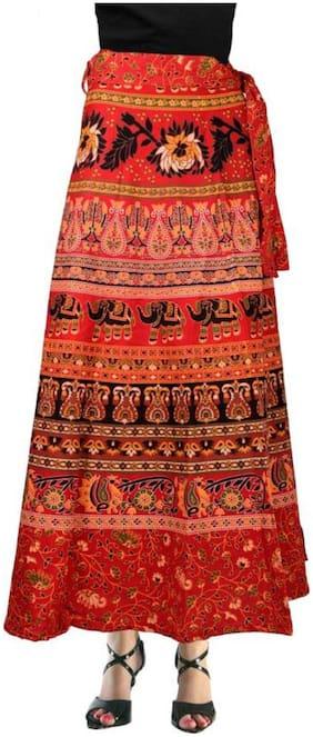 Sunrise Paridhan Printed Wrap Skirt Midi Skirt - Multi