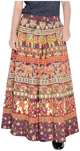 Sunrise Paridhan Printed Wrap skirt Midi Skirt - Multi