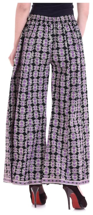Pants Suvasini Palazzo Color Women's Multi Womens Casual Cotton for HRq6YH7