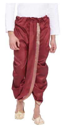 SVANIK Blended Solid Regular Dhoti Dhoti - Red