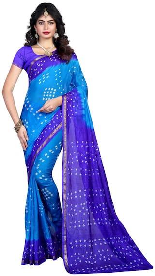 Svb Saree Multicolour Bandhani Silk Saree