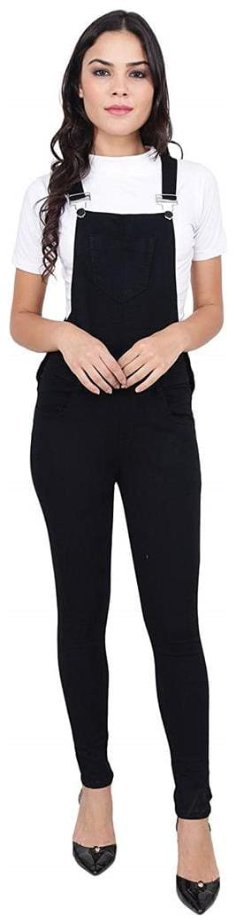 SVTADA COLLECTION Solid Dungaree - Black