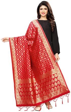 Swaron Women Silk Red Dupatta