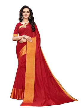 Artificial Silk Chanderi Saree
