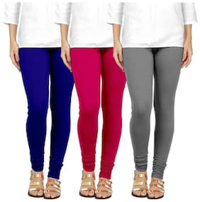 Cotton;Lycra Solid Leggings 3