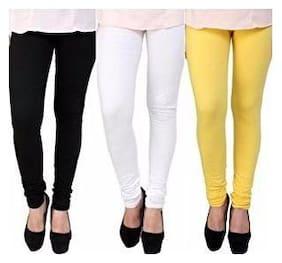 Cotton;Lycra Solid Leggings 3