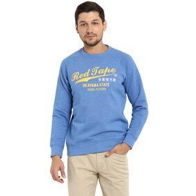 Red Tape Men Cotton Sweatshirt - Blue