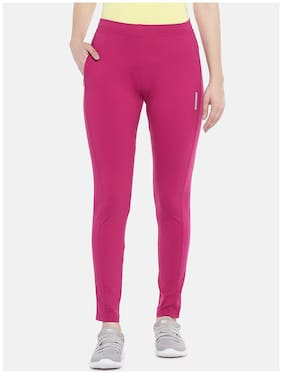 SWEET DREAMS Women's Cotton Solid Pyjama Pack of 1  (F-LLP-1163_Cherry Red_M)