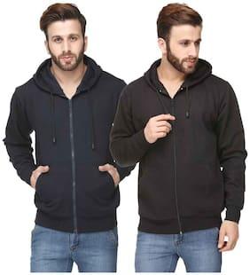 Scott Men Black and Blue Cotton Blend Jacket (Pack Of 2 Jacket)
