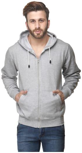 Switz Inc Men Grey Hooded Hoodie