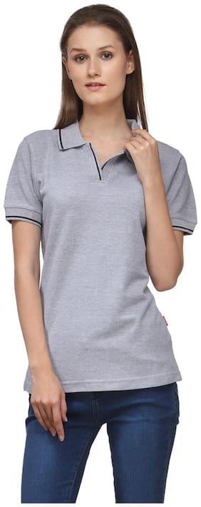 Switz Inc Women Sports T-Shirt - Grey