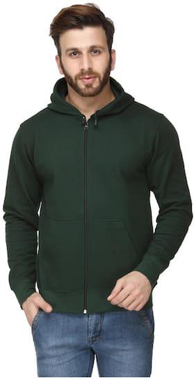 Switz Inc Men Green Hooded Hoodie