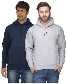 Scott Men Grey and Blue Cotton Blend Jacket (Pack Of 2 Jacket)