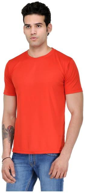 Scott International Men Orange Regular fit Cotton Round neck T-Shirt - Pack Of 1