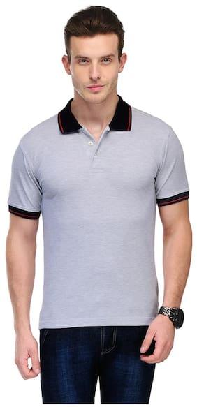Switz Inc Men White Regular fit Cotton Polo collar T-Shirt - Pack Of 1