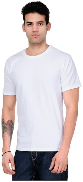 Scott International Men White Regular fit Cotton Round neck T-Shirt - Pack Of 1