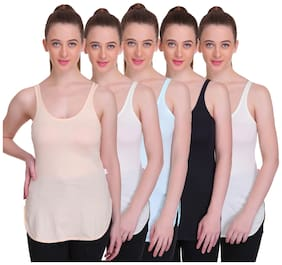 T.T. Women Camisole Pack Of 5 (Multi)