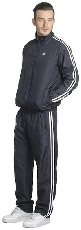T10 Sports Men Cotton Blend Track Suit - Blue