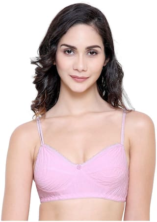 Tace cotton Pink Colour Pack of 1 Bras